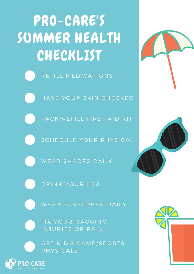 Summer Health Checklist