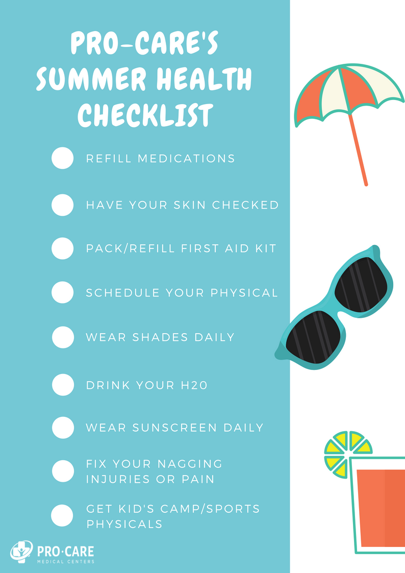 Summer Health Checklist